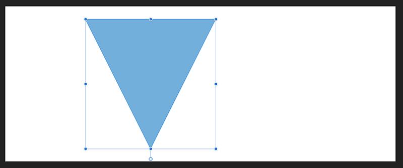 三角形が上下反転