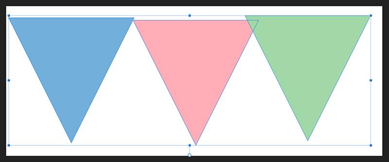 すべての三角形を選択