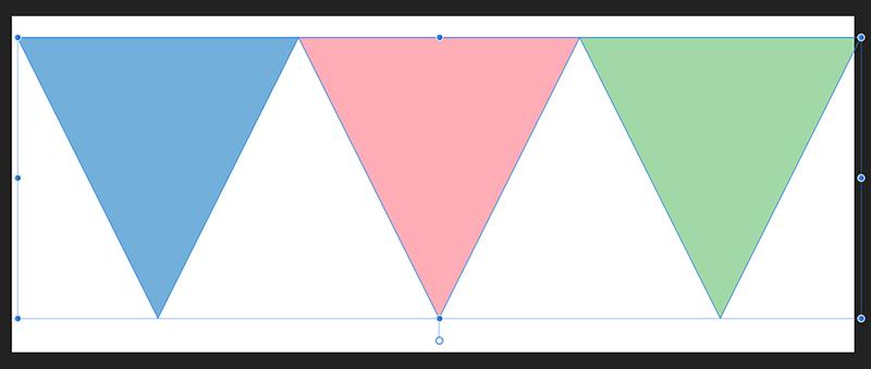 三角形が整列