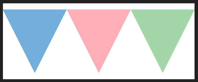三角形が中央に移動