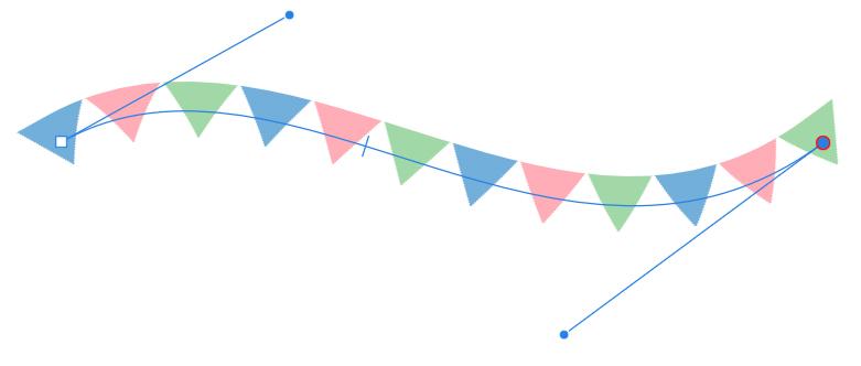 【Affinity Designer】かんたん!フラッグのつくりかた あとから編集可能
