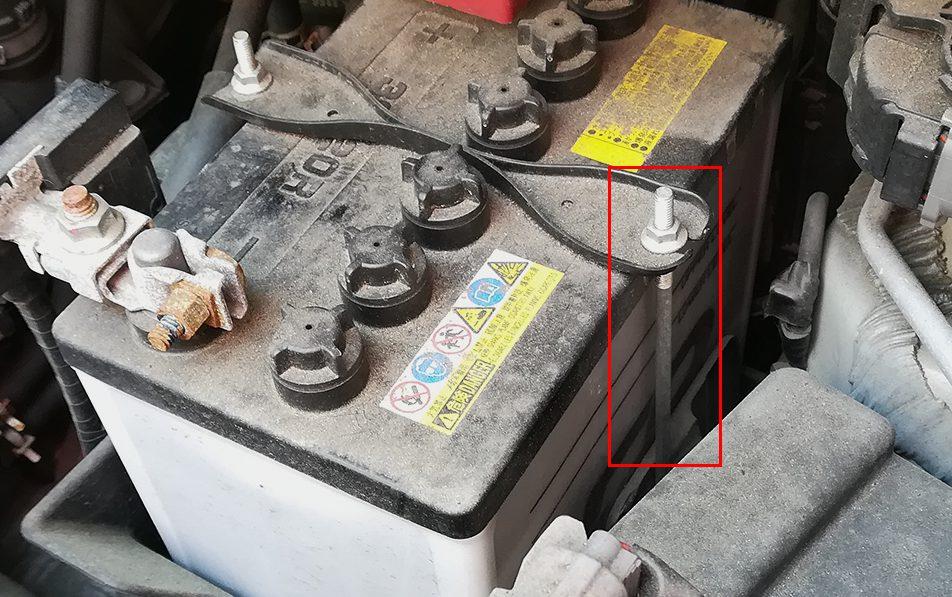 バッテリーの固定方法2