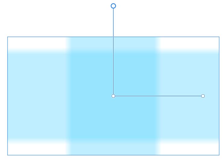 長方形にハンドルが表示