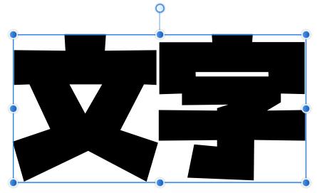 文字やオブジェクトを選択