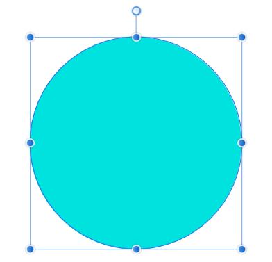 縦線を基準にした円