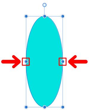 枠の縦線上にあるノード(二重の丸)